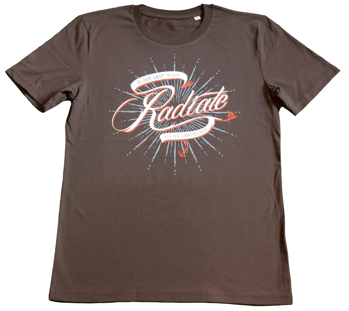 T-Shirt 'Radiate' | Braun