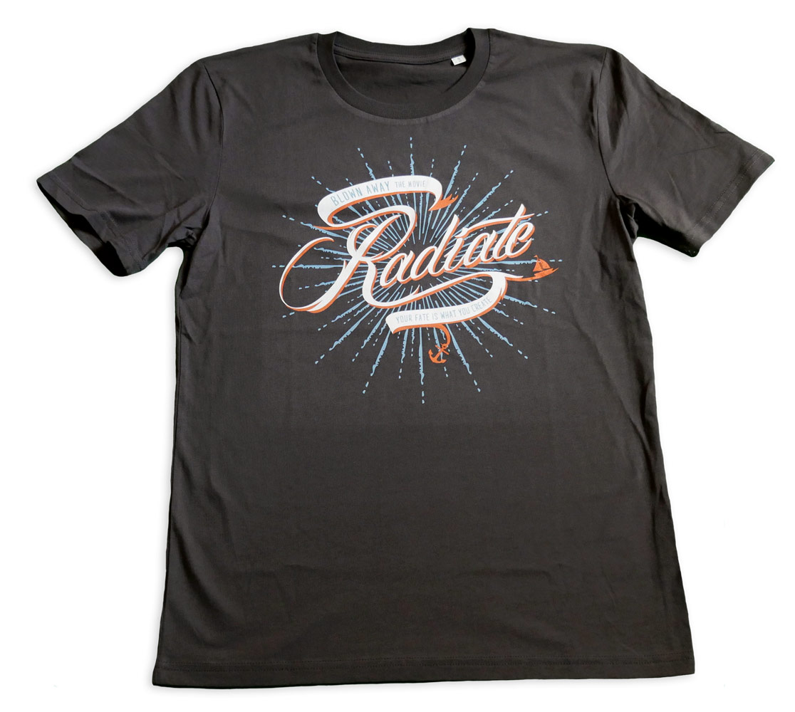 T-Shirt 'Radiate' | Anthrazit