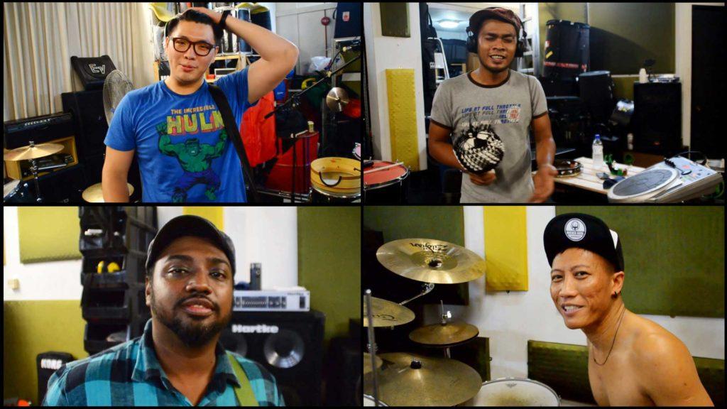 Gerald Wu, Yazzid, Riduan Zalani and Idham Budiman from Wicked Aura
